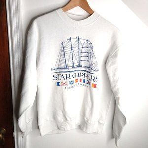 HANES Star Clipper Graphic Oversized Sweatsh